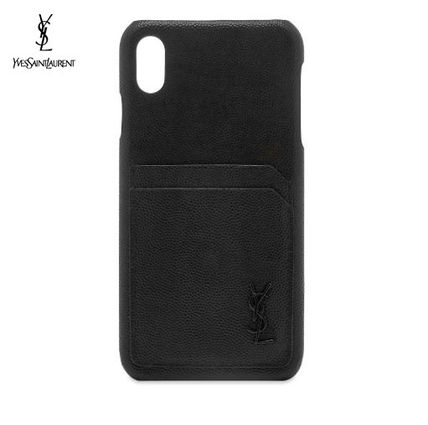 Saint Laurent スマホケース・テックアクセサリー NEW▼Saint Laurent▼YSL Metal Logo iPhone XSケース