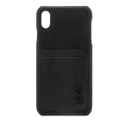 Saint Laurent スマホケース・テックアクセサリー NEW▼Saint Laurent▼YSL Metal Logo iPhone XSケース(2)