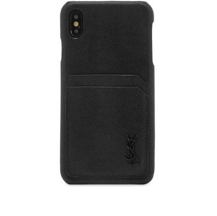 Saint Laurent スマホケース・テックアクセサリー NEW▼Saint Laurent▼YSL Metal Logo iPhone XSケース(3)