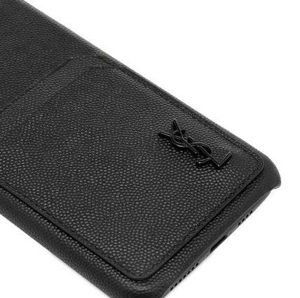 Saint Laurent スマホケース・テックアクセサリー NEW▼Saint Laurent▼YSL Metal Logo iPhone XSケース(4)