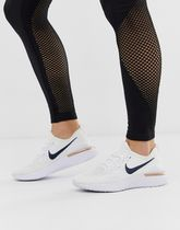 Nike Running ☆★Epic React Flyknit White And Rose Gold