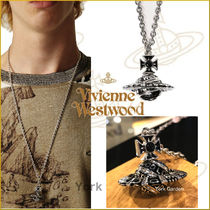 19ss新作★vivienne westwood★PEPEオーブロゴネックレスMens