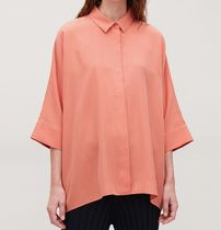 """COS"" DRAPED WIDE-FIT SHIRT CORAL"
