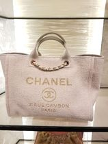 2019 Pre-Fall 店頭入荷★CHANEL★Deauville tote in ivory