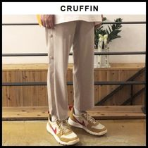 ☆CRUFFIN☆ Side Snap Button Crop Wide Pants ( Beige )
