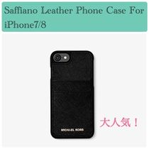 86fc550669 大人気☆Saffiano Leather Phone Case For iPhone7/8