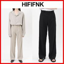 ★韓国の人気★【HI FI FNK】★Wide Pintuck Slacks★2色★