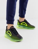 Nike Air Max ☆★720 trainers in black and green