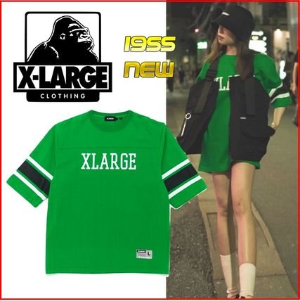 X-Large Tシャツ・カットソー 【残りわずか】 XLARGE FOOTBALL Tシャツ グリーン 緑 男女兼用
