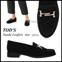 *TOD'S トッズ*Double T Suede Loafers【関税/送料込】