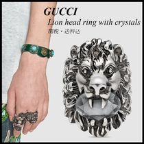 *GUCCI*Lion head ring with crystals 関税/送料込