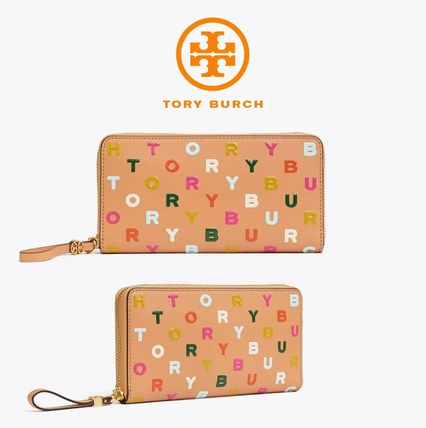 Tory Burch◆LETTERS PRINTED ZIP CONTINENTAL WALLET 長財布