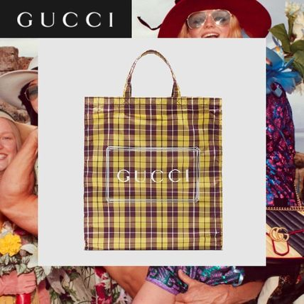 ☆19-20AW☆ GUCCI チェッミディアム トートバッグ