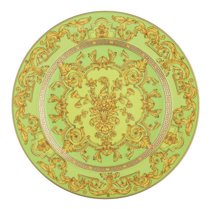 VERSACE 食器(皿) 25周年 FloraliaGreen Plate Limited Edition(送料・関税込)22cm