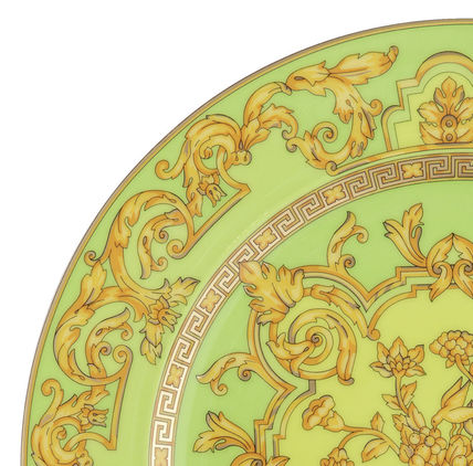 VERSACE 食器(皿) 25周年 FloraliaGreen Plate Limited Edition(送料・関税込)22cm(2)