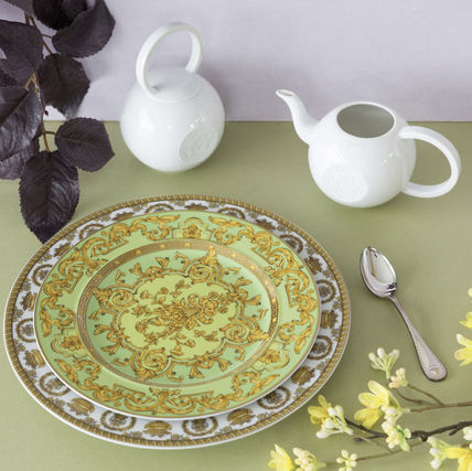 VERSACE 食器(皿) 25周年 FloraliaGreen Plate Limited Edition(送料・関税込)22cm(4)