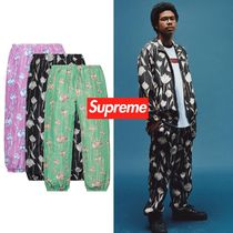 SS19 Supreme Floral Silk Track Pant - トラックパンツ