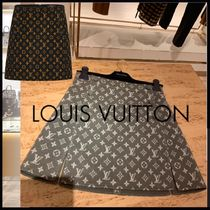 19AW 新作 Louis Vuitton ミニスカート ウィズボタンディテール