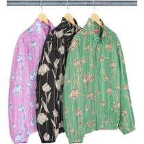 SUPREME Floral Silk Track Jacket SS19 Week16
