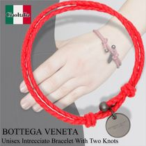 Bottega veneta unisex intrecciato bracelet with two knots