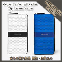 MICHAEL KORS ☆Cooper Perforated Leather Zip-Around Wallet