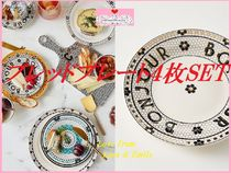 最安値保証*関送込【Anthro】Bistro Tile Bread Plates 4枚SET
