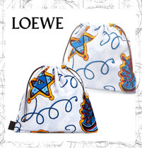 【LOEWE】Paula Drawstring Pouch L Blue/Red
