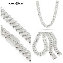 【King Ice】White Gold 15mm Flooded Miami Cuban Curb Chain