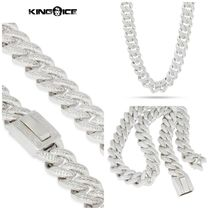 【King Ice】White Gold 18mm Flooded Miami Cuban Curb Chain