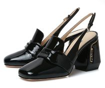 【関税負担】 PRADA LEATHER SLINGBACK PUMPS