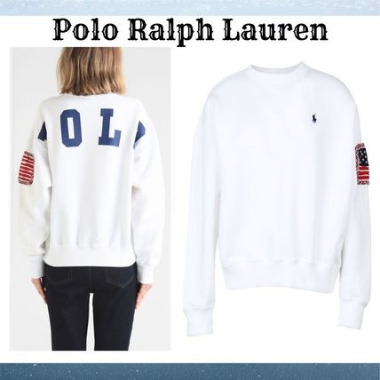 『Polo Ralph Lauren』EMBROIDERED ロゴスウェット白☆関税込*★
