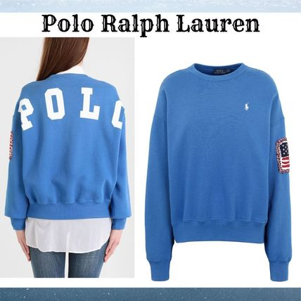 『Polo Ralph Lauren』EMBROIDERED ロゴスウェット青☆関税込*★