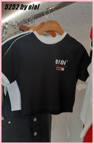5252 by oioi☆LINING CROP T-SHIRTS 全2色☆韓国発★19SS☆