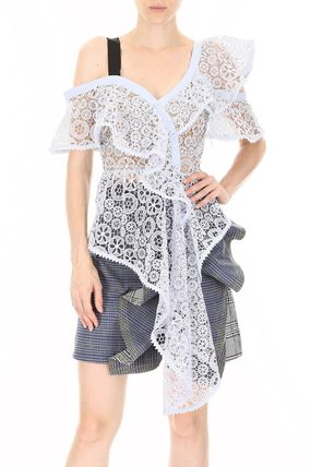 SELF PORTRAIT トップスその他 関税込◆ASYMMETRIC LACE TOP(3)