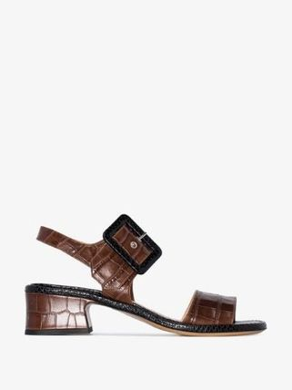 Dries Van Noten シューズ・サンダルその他 【Dries Van Noten】brown 45 buckled croc leather sandals(2)