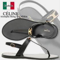 Celine  triomphe thong in Calfskin