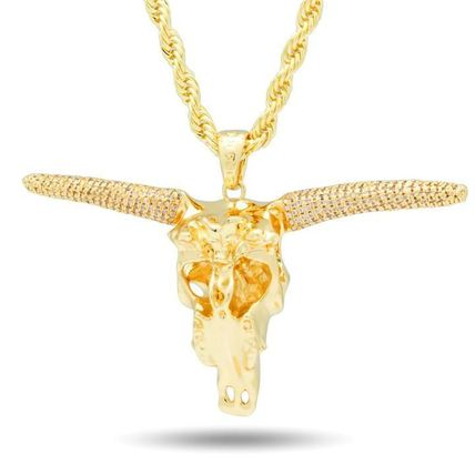 King Ice ネックレス・チョーカー 【King Ice】☆新作☆ The Longhorn Bull Necklace(3)