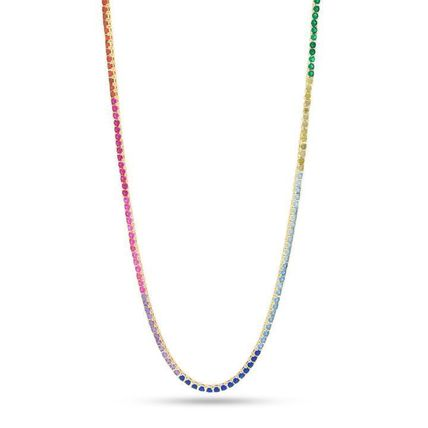 King Ice ネックレス・チョーカー 【King Ice】☆新作☆ 3mm Gold Single Row Spectrum Chain(2)