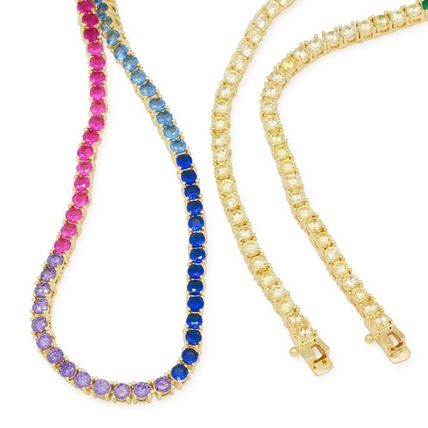 King Ice ネックレス・チョーカー 【King Ice】☆新作☆ 3mm Gold Single Row Spectrum Chain(3)