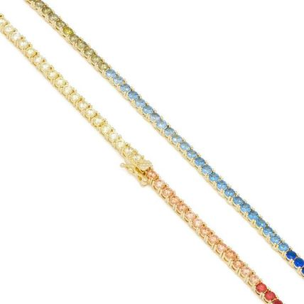 King Ice ネックレス・チョーカー 【King Ice】☆新作☆ 3mm Gold Single Row Spectrum Chain(5)