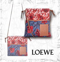 【LOEWE】Paula's Small Drawstring Pouch Blue/Red