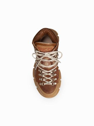 GUCCI シューズ・サンダルその他 Gucci Leather and Original Journey GG trekking boots レザー(4)