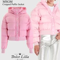 Msgm cropped puffer jacket