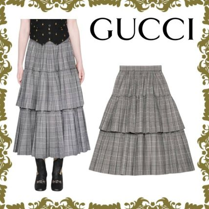 best sneakers 7af3f ec239 【GUCCI】着まわし自由なチェックウールスカート