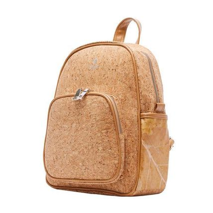 THAMON バックパック・リュック 【関税・送料込】BACKPACK IN CORK WITH NATURAL  LEAF LEATHER