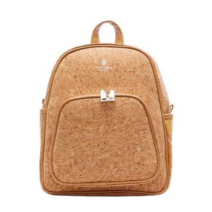 THAMON バックパック・リュック 【関税・送料込】BACKPACK IN CORK WITH NATURAL  LEAF LEATHER(2)