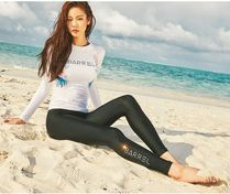 ★WOMEN Swarovski CRYSTAL WATER LEGGINGS BLACK★