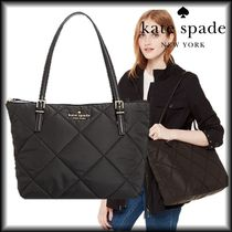 SALE! kate spade ナイロンキルト ロゴ マザーズバッグトート♪