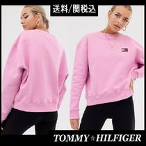 【Tommy Hilfiger】人気!Jeans バッジ ロゴ スウェット ピンク
