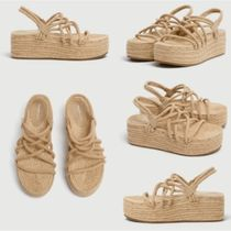 【日本未入荷】PULL&BEAR Jute wedges with rope straps
